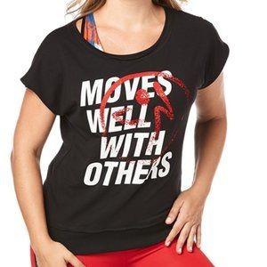 🛍Zumba Fitness Moves Well With Others Boxy Tank